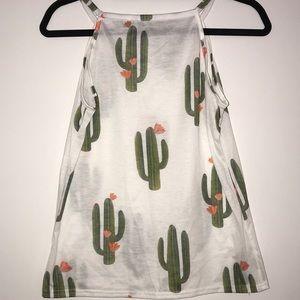 Tops - White Cactus Tank